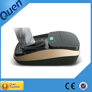 China Intelligent Thermal Shrinkable Automatic Shoe Cover Machine for Cosmetic Factory Use